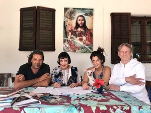 Xavi Herrero, Christine Spengler, Lucía Ortín y Phillipe Warner