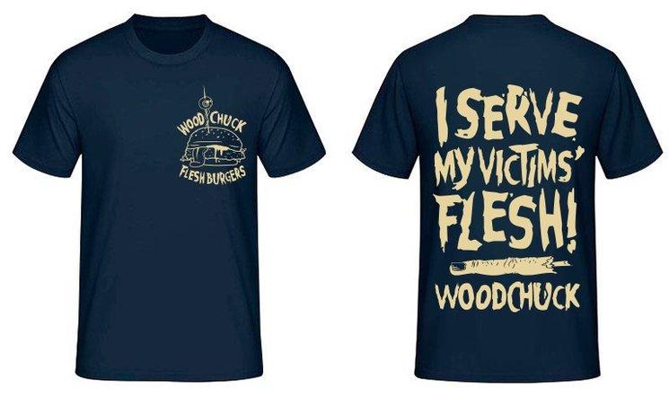 "Blue ""Flesh Burgers"" T-Shirt"