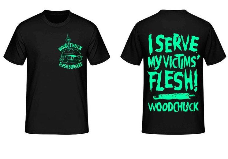 "Black ""Flesh Burgers"" T-Shirt"