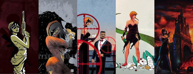 Las portadas de los cinco números. Con autores y autoras como Victor Santos o Raquel Alzate.