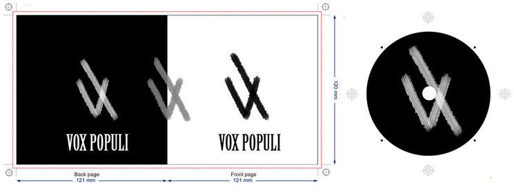 Diseño conceptual de la portada y del disco