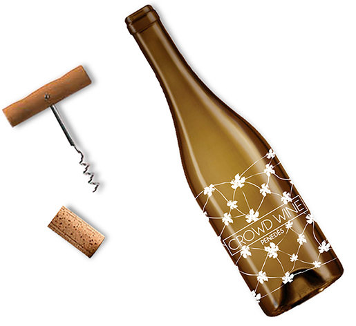 Winning design of the bottle Crowd Wine Penedès