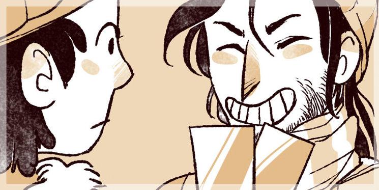 Representación gráfica de mi cara (izquierda) y —posiblemente— vuestra cara (derecha) tras haber alcanzado el primer y segundo objetivo (abajo)