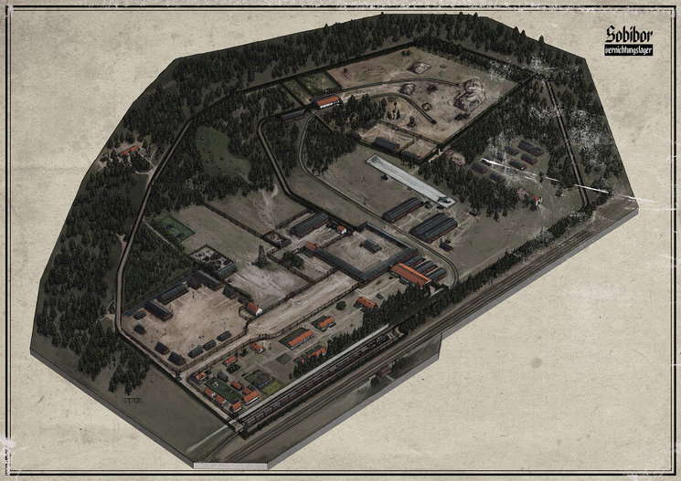 Mapa Sobibor Color