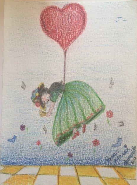Dibujo realizado por Gloria Jaramillo