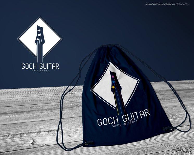 Mochila donde puedes transportar tu Goch guitar.