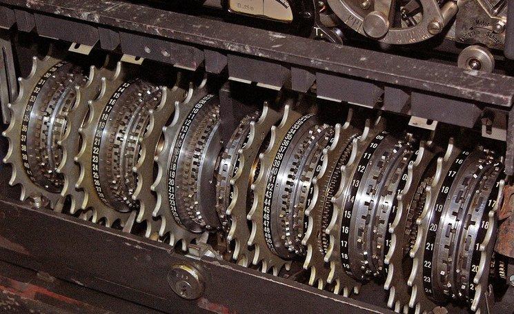 Una máquina de cifrado alemana tipo Lorenz SZ40