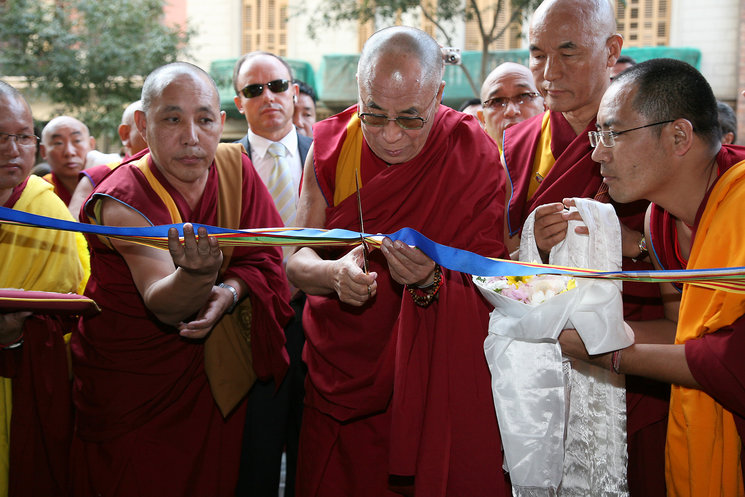 Inauguration of the new headquarters of the Tibet House Foundation of Barcelona by His Holiness the Dalai Lama (September 9, 2007). Photo Roser Vilallonga