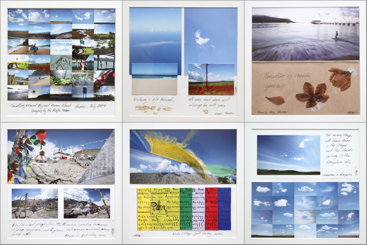Frames from the Mongolia, Hawaii and India Traveler´s Notebook diaries.