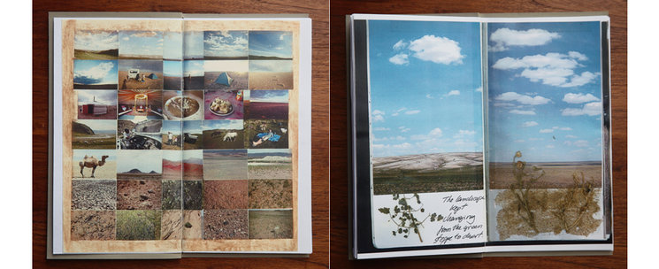 Mongolia Travel Diary: Reproductions of Mongolia Traveler´s Notebook diary.