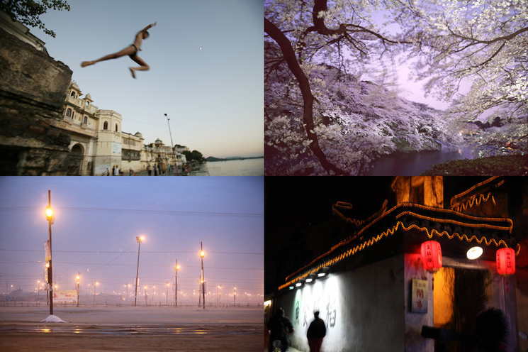 Left to right (clockwise): Udaipur, India. Tokyo, Japan. Allahabad, India. Suzhou, China.