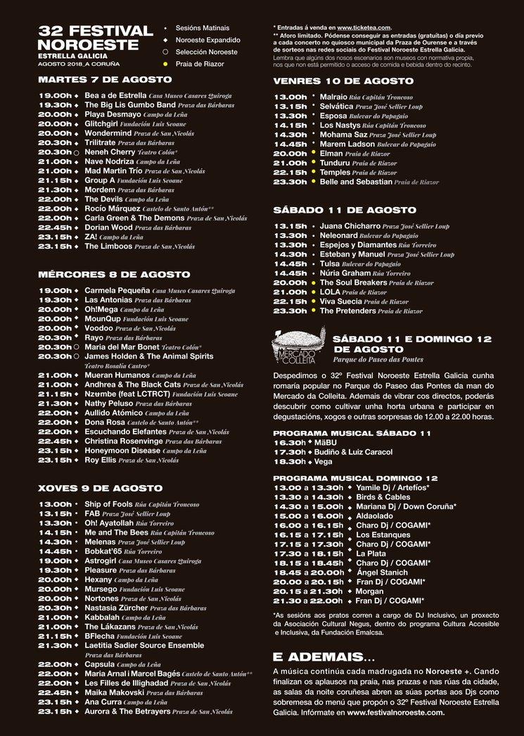 cartel del 32 Festival Noroeste EG