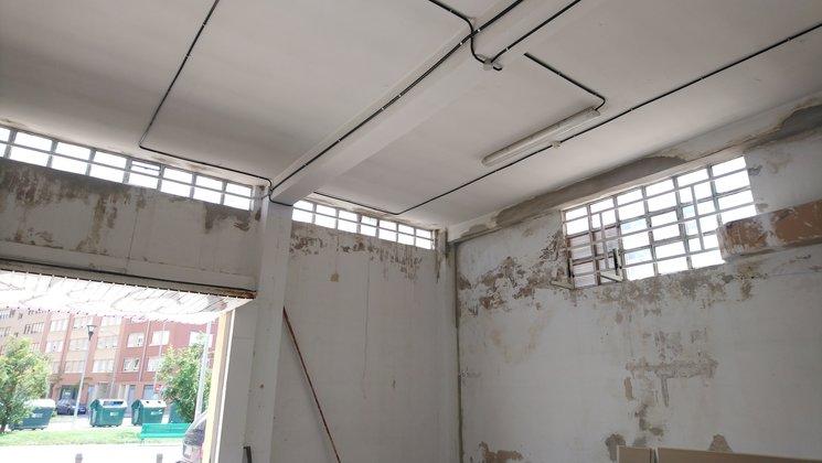 Fotos del inicio de la obra para acondicionar el local