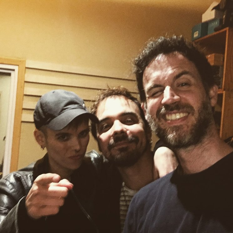 Con Luka Kranky y Carlos Díaz.