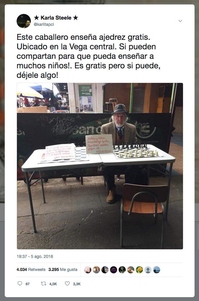 El tuit viral de @karlitapcl sobre Juan Hernández