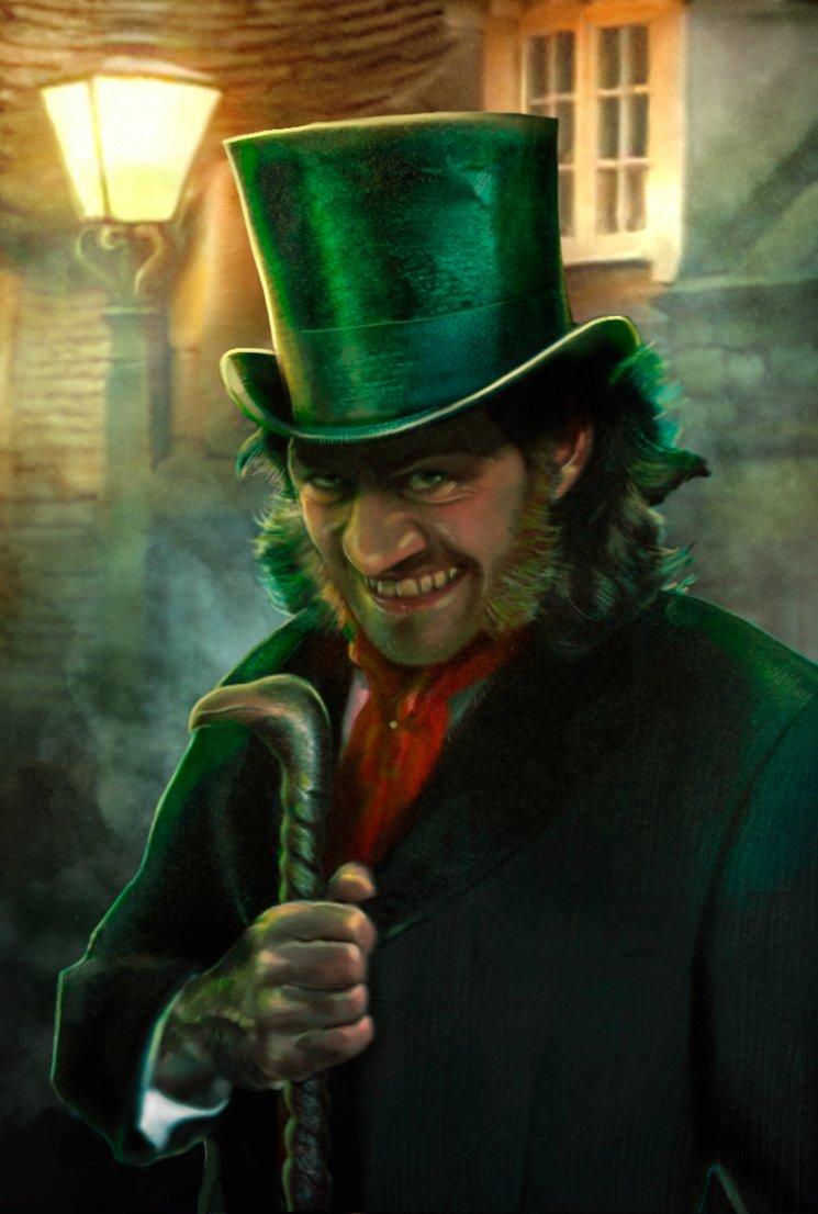 Mr. Hyde sembrando el pánico en las calles en las noches londinenses.