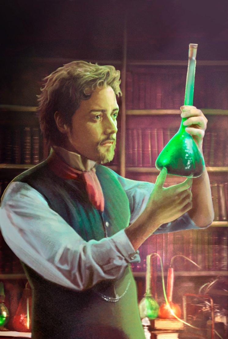 El doctor Henry Jekyll en su laboratorio.