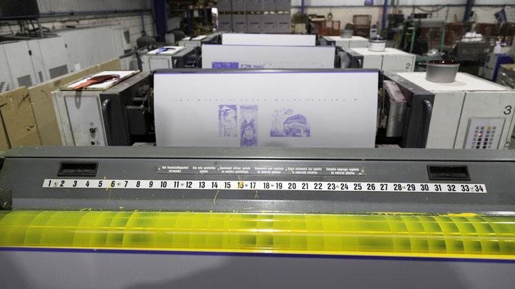 Planchas de impresión listas para su uso.