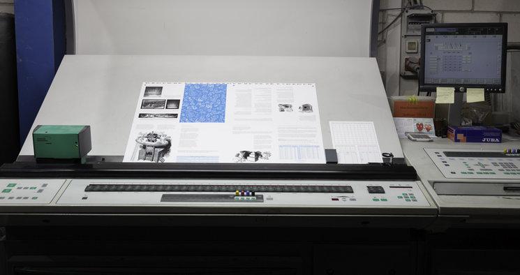 Pruebas de impresión a pie de máquina
