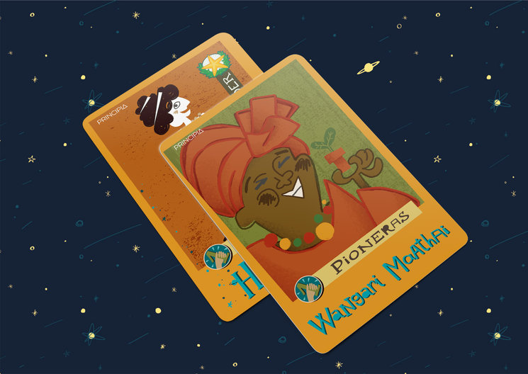 Las pioneras Wangari Maathai e Hipatia