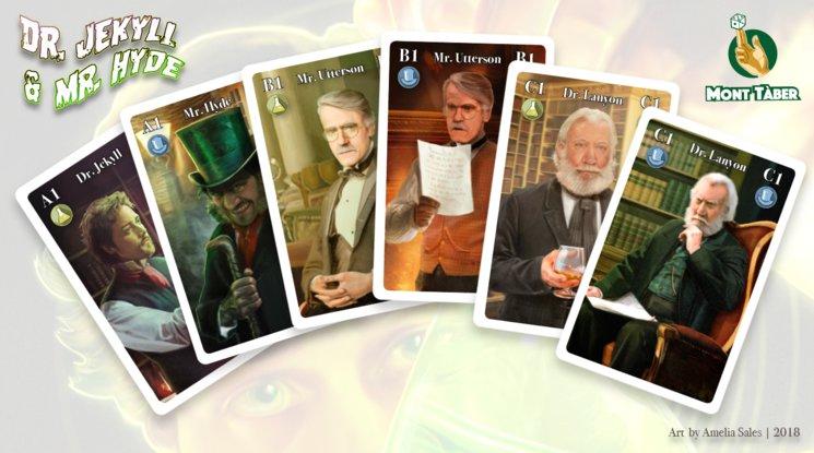 Los personajes de la novela Dr. Jekyll & Mr. Hyde cobran vida en este juego de cartas.