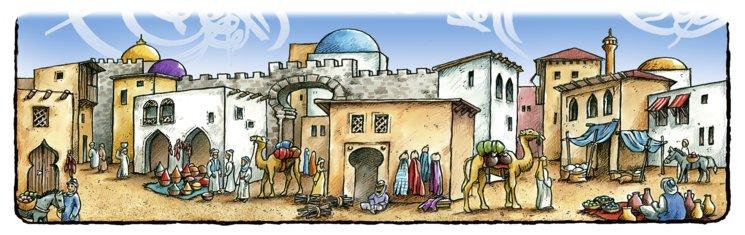 Un detalle del mercado de Bizancio, nuestro juego más histórico.