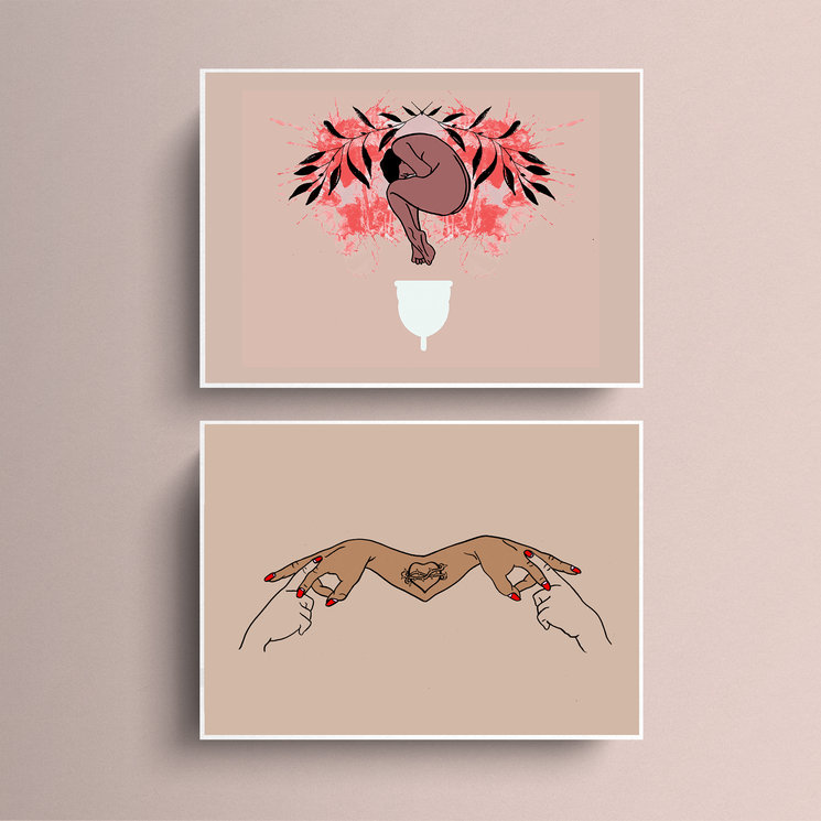 Postales de dos de las ilustraciones que encontrarás en el libro