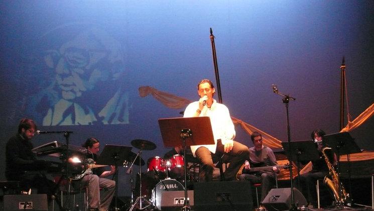 """2012-Teatre Principal de Castelló-Homenatge a Miquel Peris 25é aniversari del seu traspàs. """"A RECER DE LA MAR""""."""