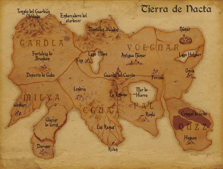 Mapa incluído en el libro.