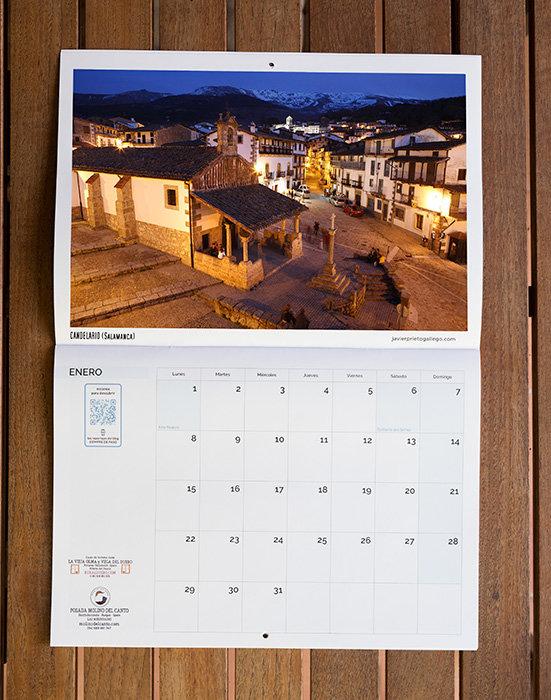 Y aspecto del calendario abierto.