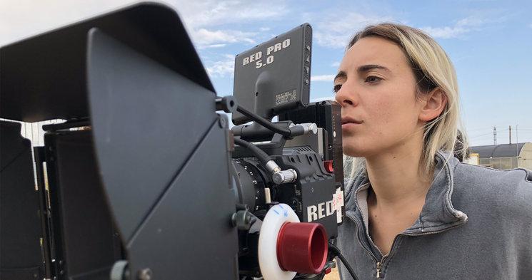 Nuestra cámara y directora de foto Laura Gallego.