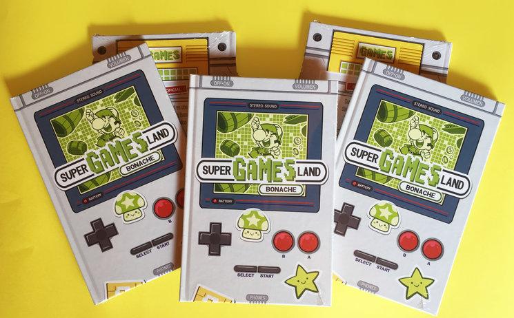 5 ejemplares de Super Games Lands listos para partir.