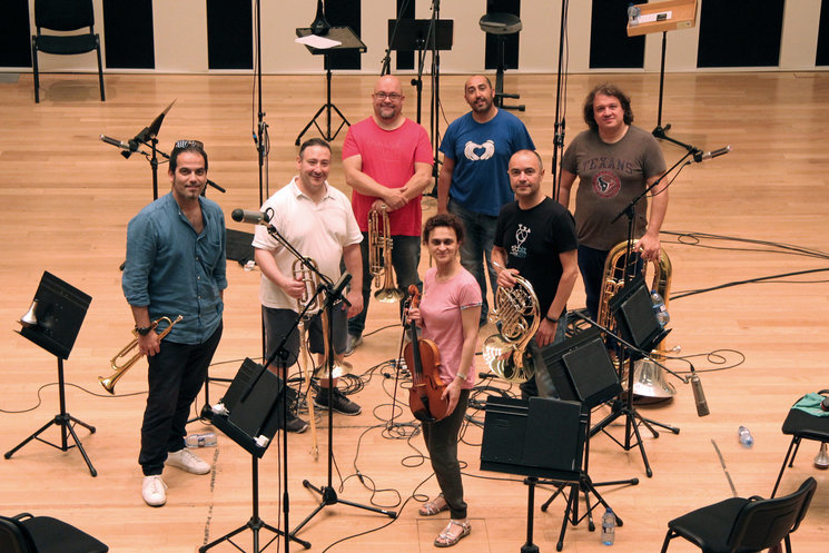 Recording with Spanish Brass