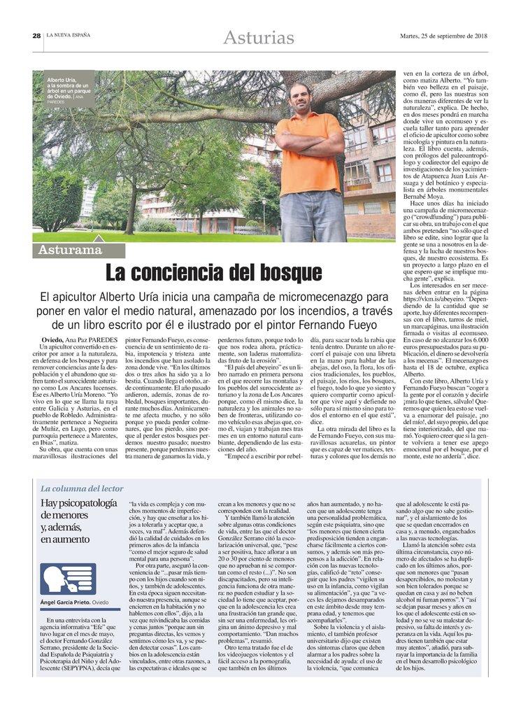 Entrevista de la Nueva España a Alberto Uría (Autor del texto))