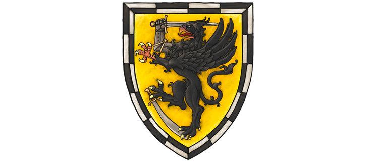 El escudo de la Ciudad Libre de Alkenburgo