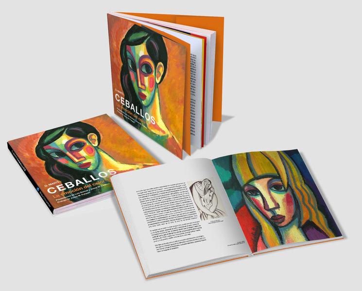 """Maqueta libro  """"La emoción del color"""" de  G. Martí Ceballos"""