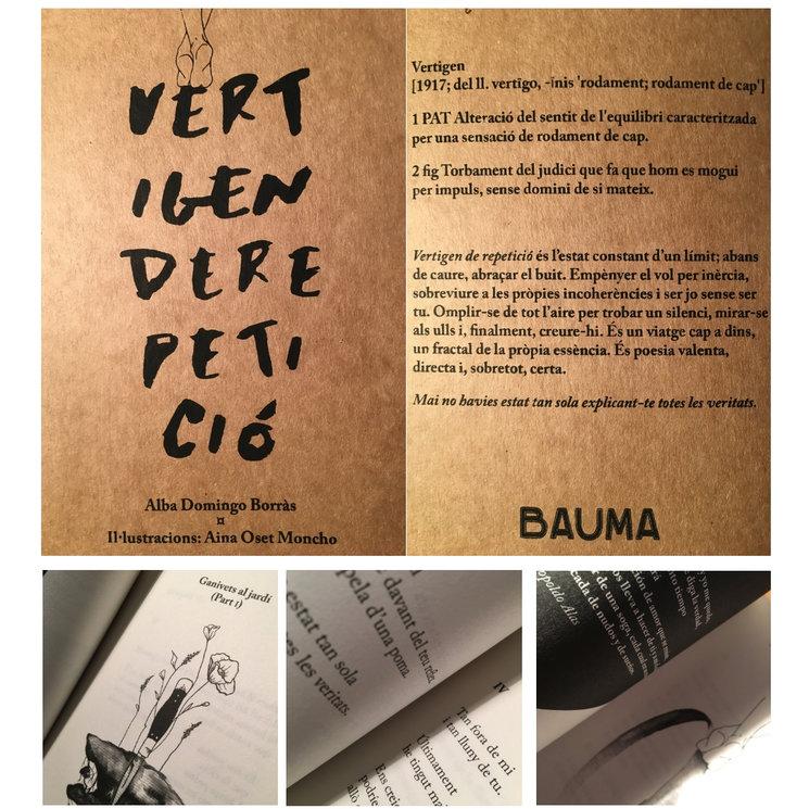 Libro de poesía Vertígen de repetició, Alba Domingo