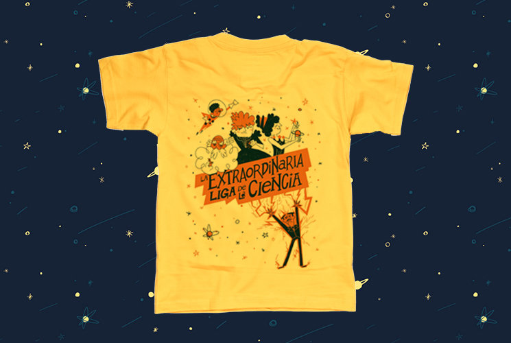Camiseta conmemorativa de La extraordinaria liga de la ciencia