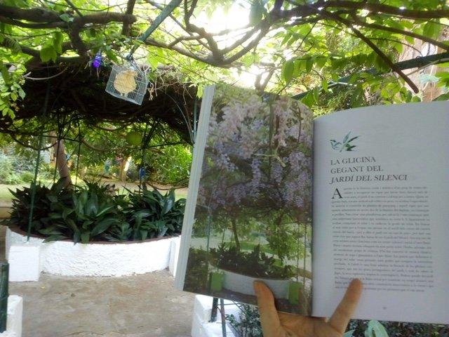 El llibre obert al Jardí del Silenci. El libro abierto en el Jardí del Silenci