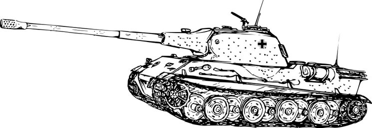 Boceto del Panzerkampfwagen VII Löwe