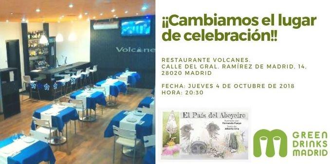 Nuevo lugar de celebración de Green Drinks Madrid