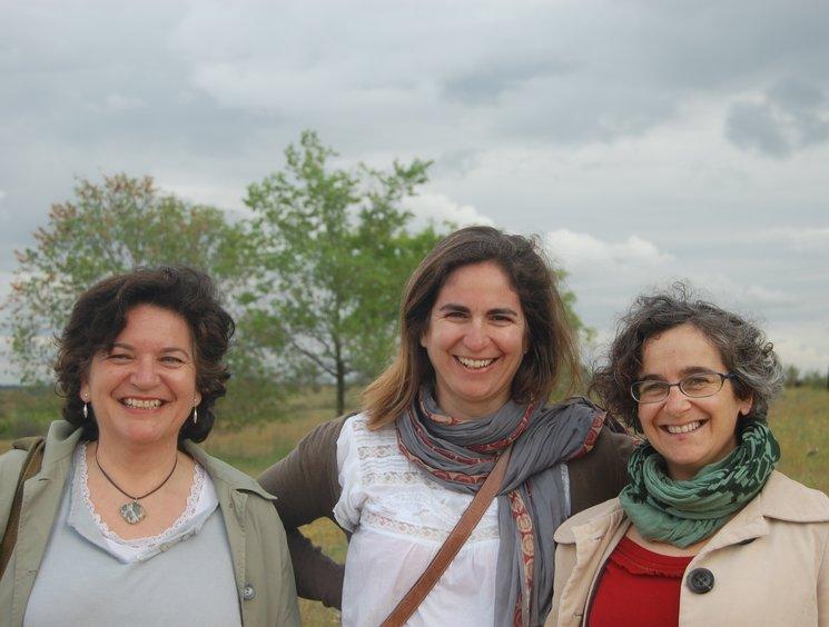 Ana Marco, Alejandrina Alfaro y Antonia Barros