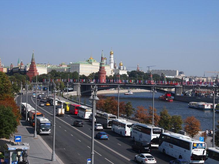 Vistas del río moscova desde el mirador.