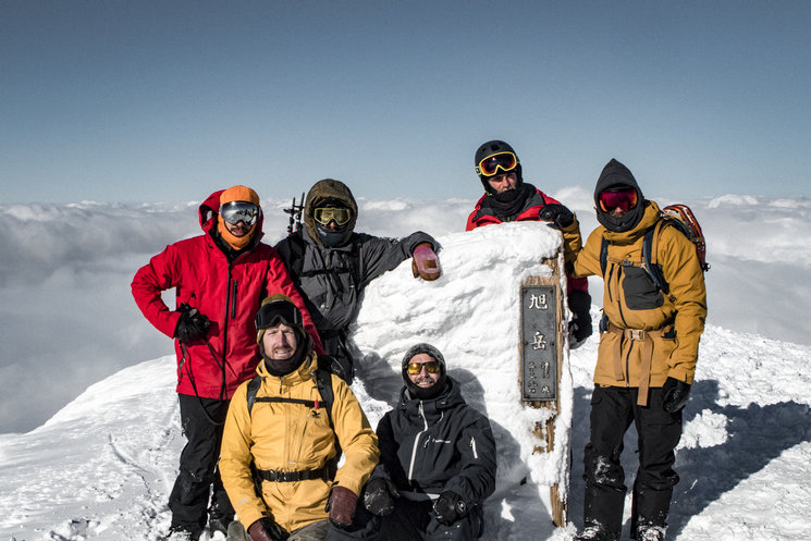 Some of our team in the top of mount Asahidake