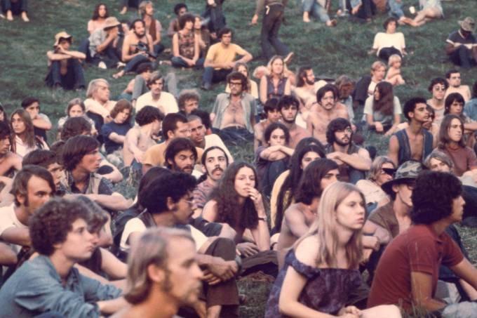 Público en el Festival Woodstock, 1969. (Ralph Ackerman/Getty Images)