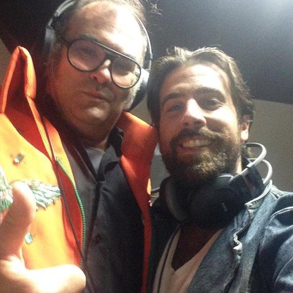 Amb el mestre, Ariel Santamaria després de gravar veus