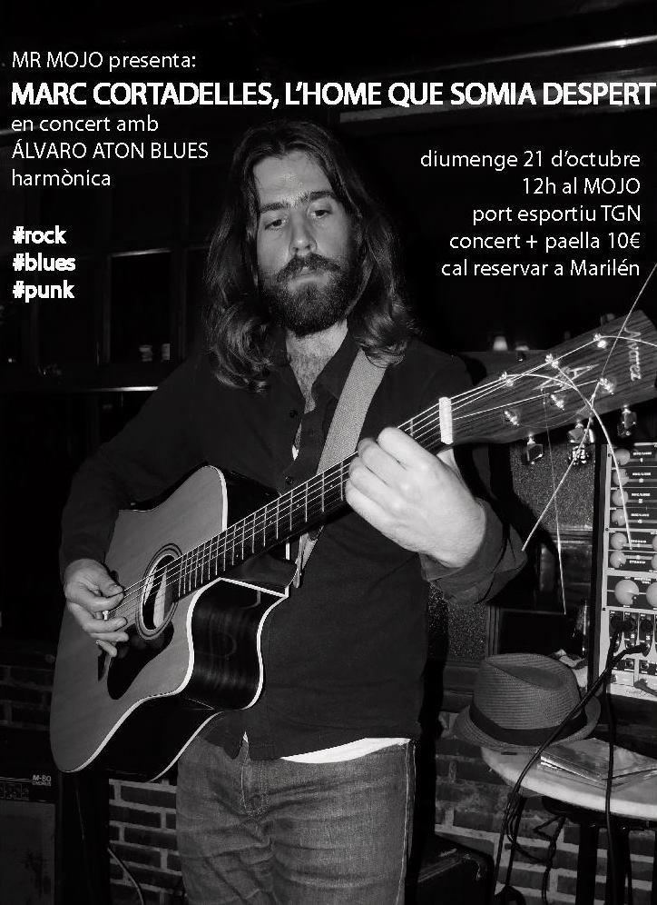 Cartell del concert-paella del proper diumenge 21 a Tarragona