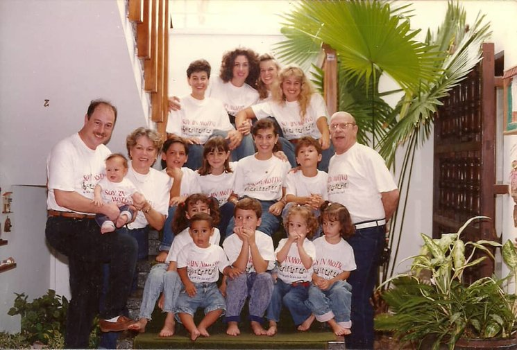 Puerto Cabello 1990. (In this photo some important people are missing: my mom, my uncles and three cousins)