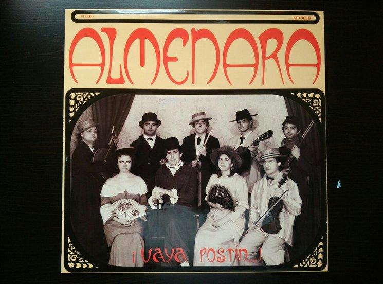 Portada del LP de Almenara, con unos jovencísimos Carlos Soto y Jesús Cifuentes