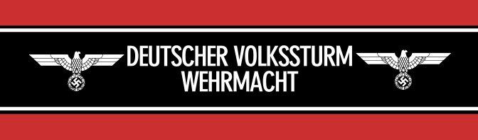 Banda de identificación de los miembros de la Volkssturm